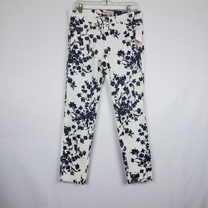 Philosophy White/Blue Floral Jeans 8